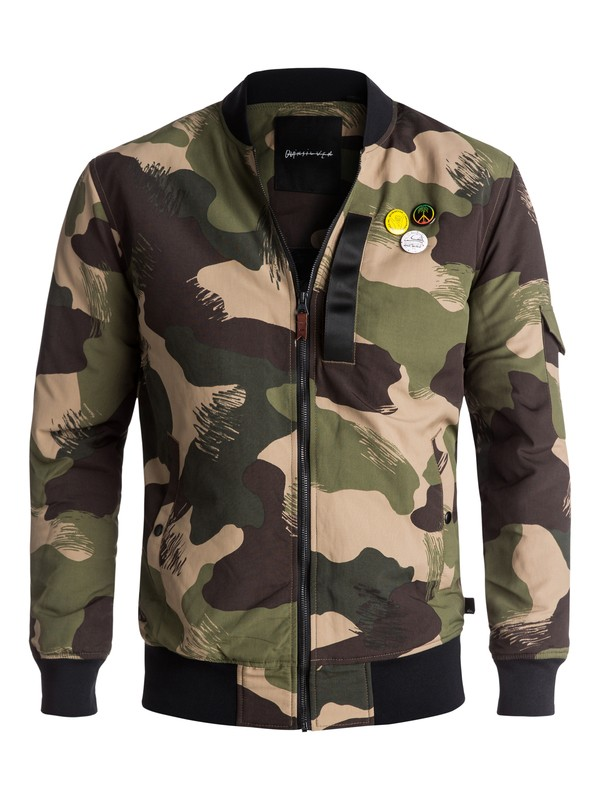0 Trestles Army Long-Fit Bomber Beige EQYJK03359 Quiksilver