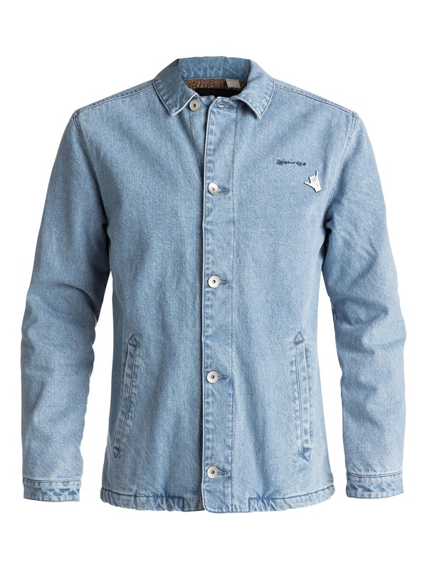0 Newport Night - Veste coach denim Bleu EQYJK03360 Quiksilver