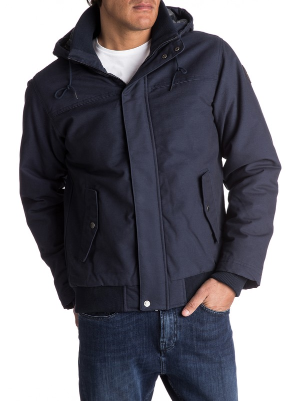 0 Everyday Brooks Water-Repellent Hooded Bomber Jacket  EQYJK03365 Quiksilver