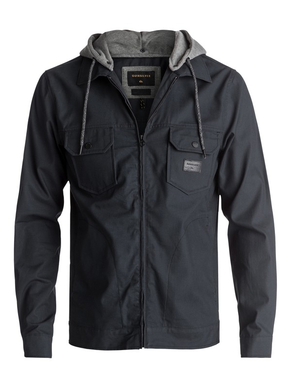 0 Men's Tionaga Water Repellent Jacket Black EQYJK03368 Quiksilver