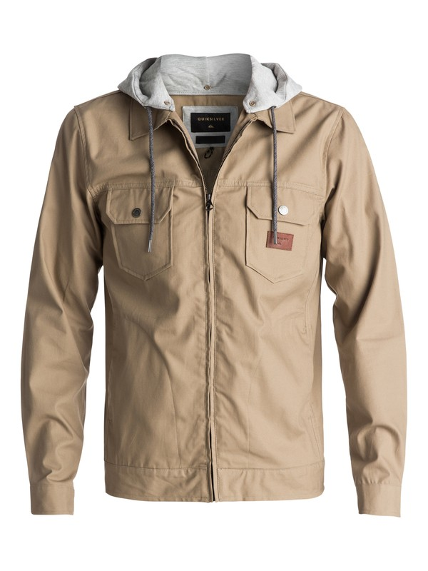 0 Men's Tionaga Water Repellent Jacket Beige EQYJK03368 Quiksilver