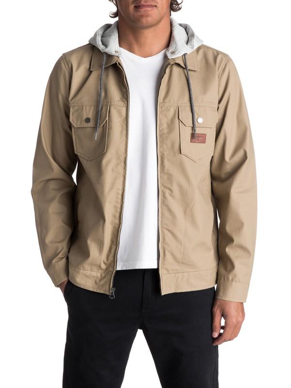 0 Men's Tionaga Water Repellent Jacket Beige EQYJK03368 Quiksilver