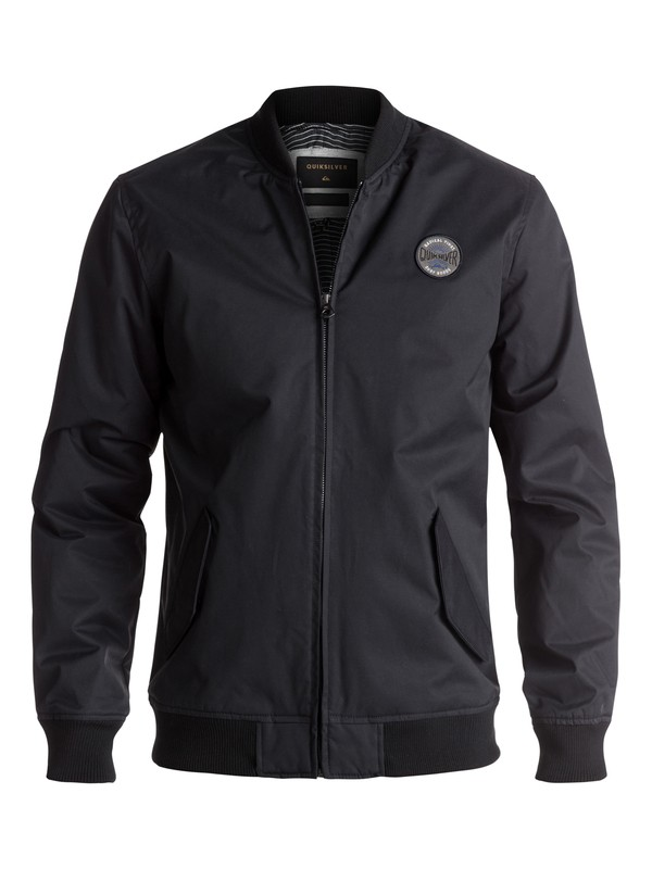 0 Waikawa Water-Repellent Bomber Jacket Black EQYJK03372 Quiksilver
