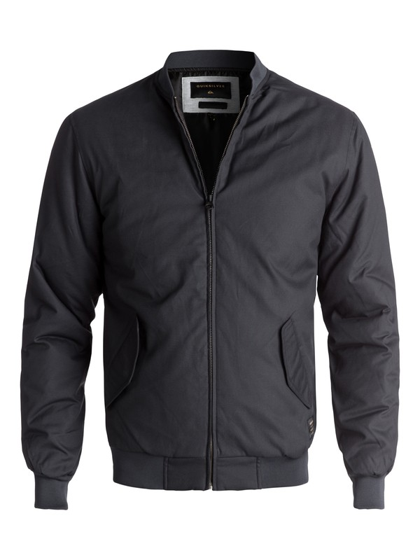 0 Men's Ogoki Bomber Jacket Black EQYJK03374 Quiksilver