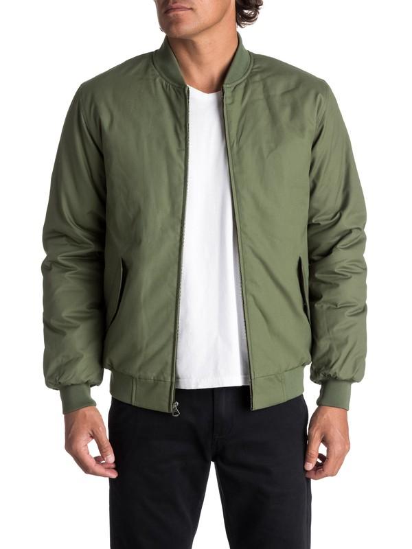 0 Men's Ogoki Bomber Jacket Green EQYJK03374 Quiksilver