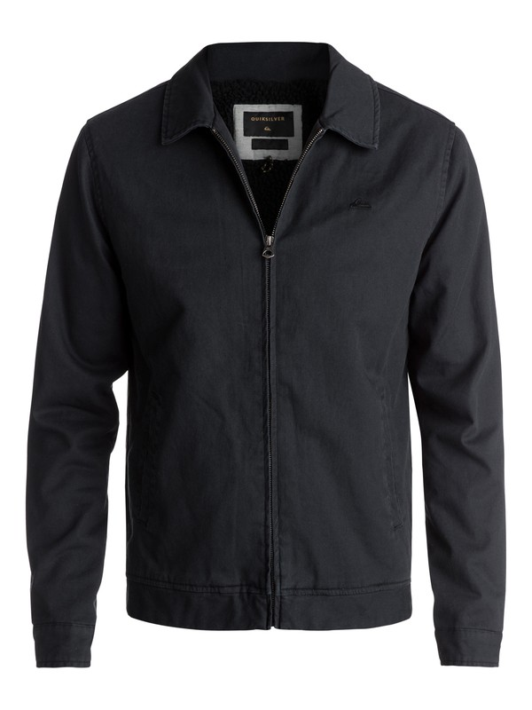 0 Men's Everyday Billy Zipped Jacket Black EQYJK03377 Quiksilver