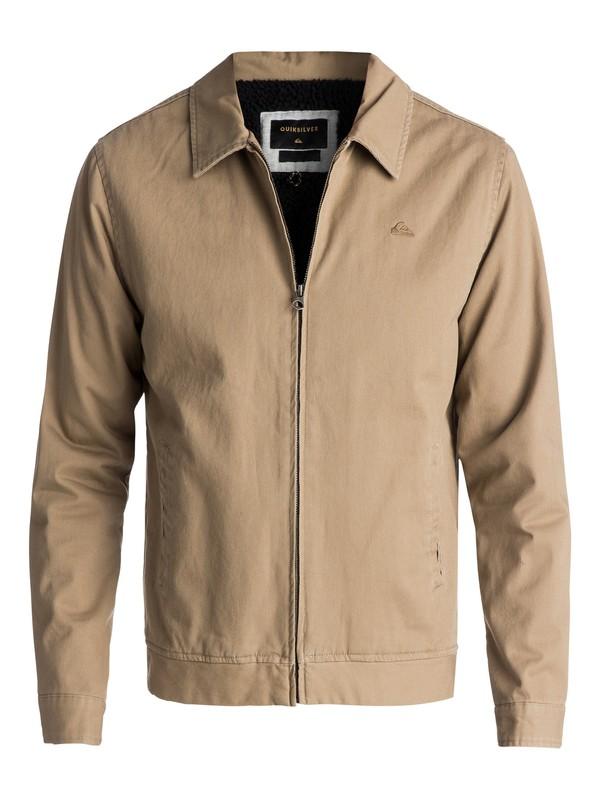 0 Men's Everyday Billy Zipped Jacket Beige EQYJK03377 Quiksilver