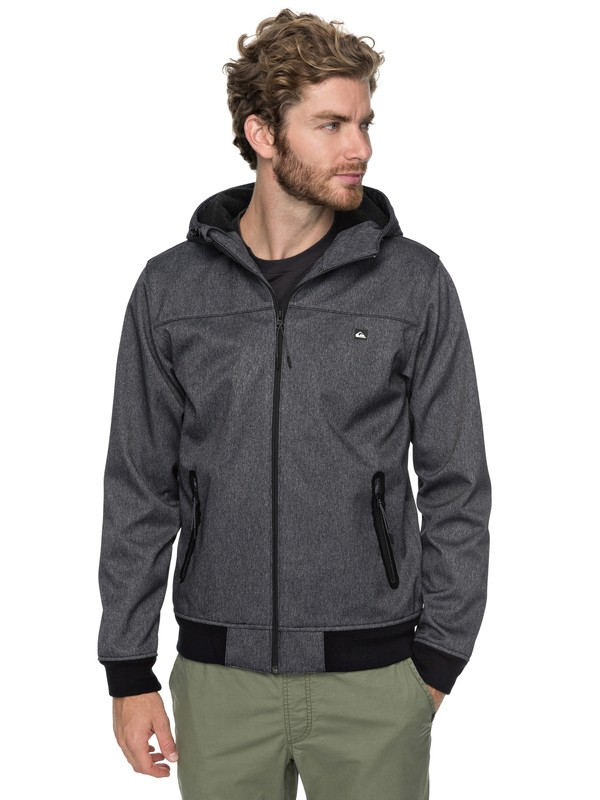 0 Brooks Bonded - Giacca Softshell Tecnica Black EQYJK03382 Quiksilver