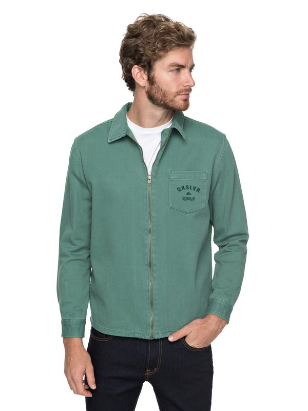 0 Riser Twill - Giacca con zip Green EQYJK03391 Quiksilver