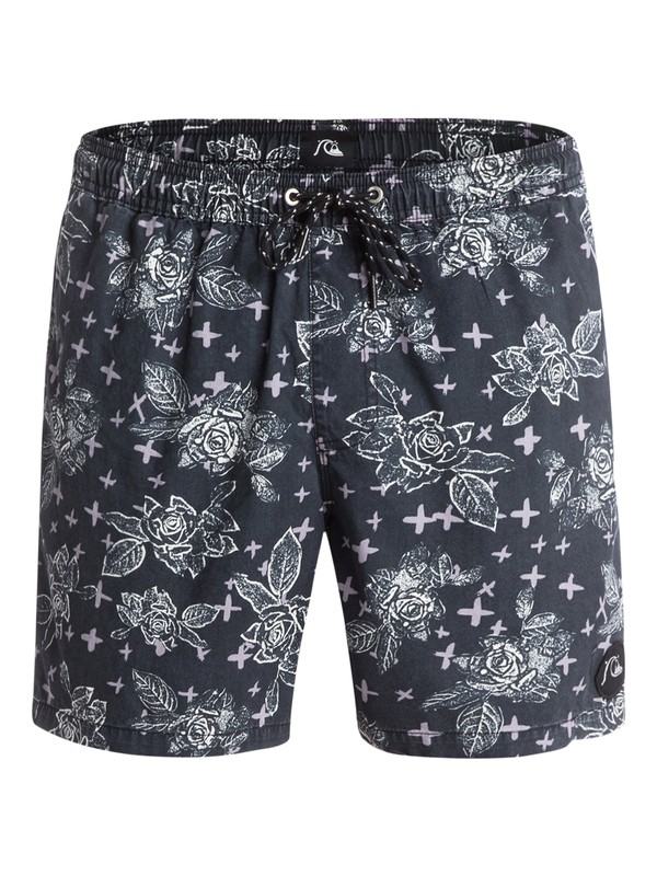 "0 Acid Dots 16"" Volley Boardshorts Black EQYJV03048 Quiksilver"