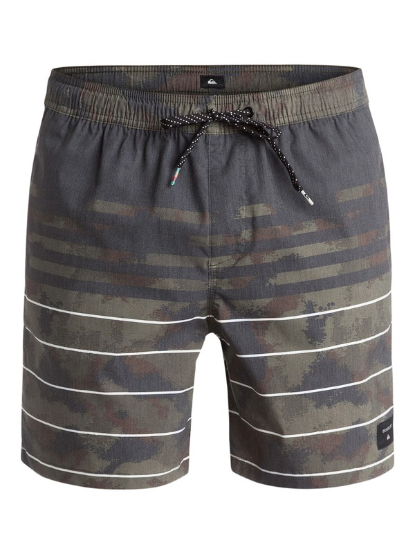 """0 Swell Vision 17"""" Volley Boardshorts Brown EQYJV03154 Quiksilver"""