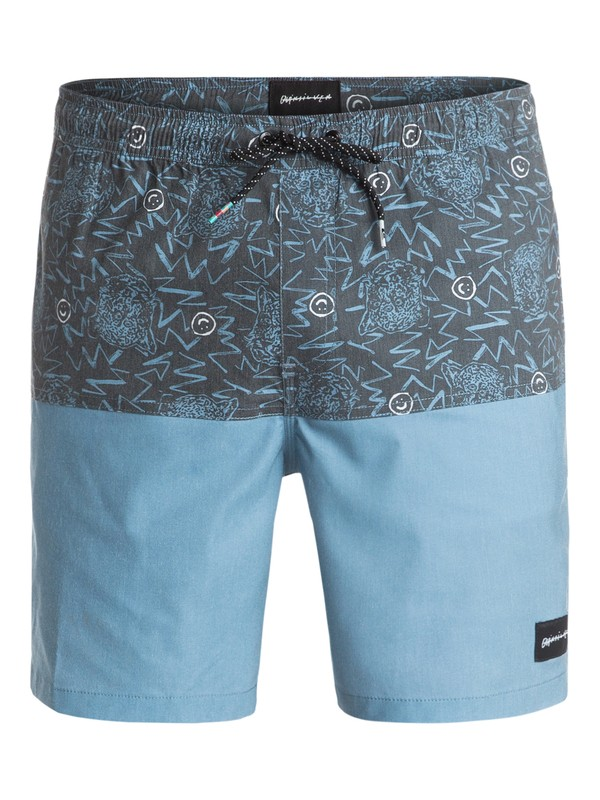 "0 Zulu Mix 17"" Volley Boardshorts Blue EQYJV03156 Quiksilver"