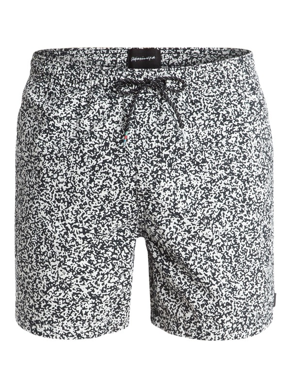 "0 Ghetto Mix 17"" Volley Boardshorts White EQYJV03157 Quiksilver"