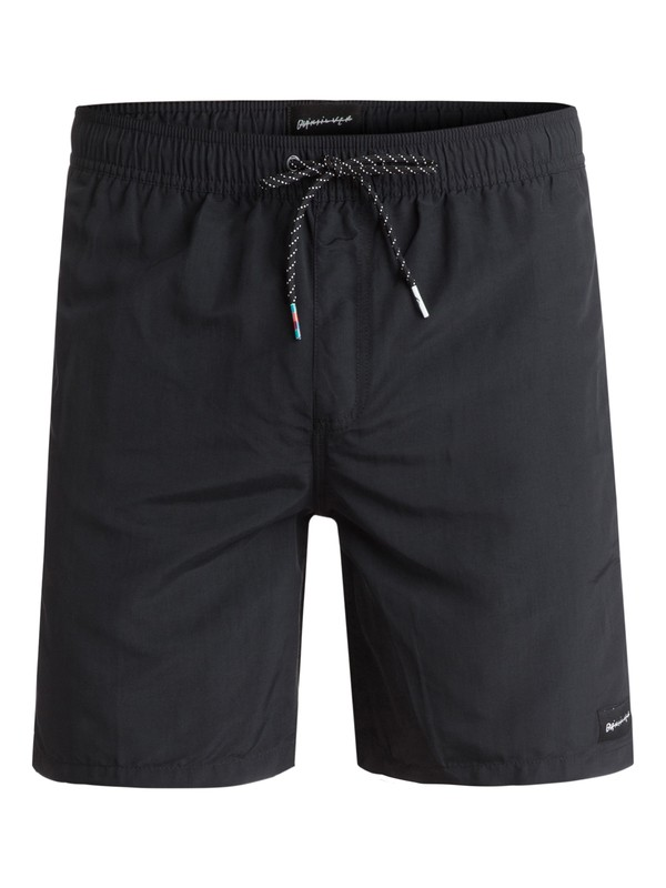 "0 Rigby 17"" Volley Boardshorts Black EQYJV03183 Quiksilver"