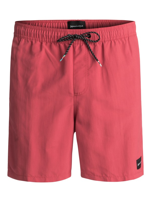 "0 Rigby 17"" Volleys Red EQYJV03183 Quiksilver"