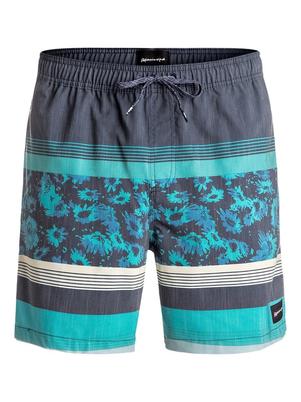"0 Swell Vision 17"" Volley Boardshorts Blue EQYJV03189 Quiksilver"