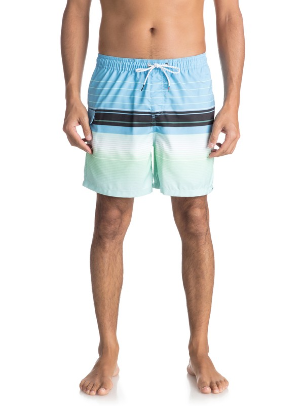 """0 Swell Vision 17"""" Volley Boardshorts Blue EQYJV03305 Quiksilver"""