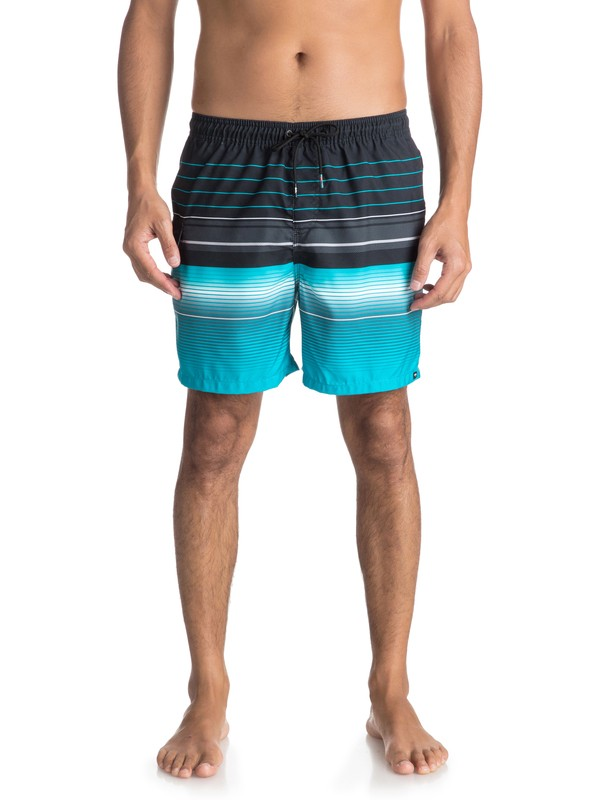 """0 Swell Vision 17"""" Volley Boardshorts Black EQYJV03305 Quiksilver"""
