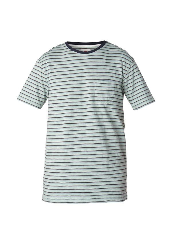 0 Stripe Slim Fit T-Shirt Blue EQYKT03002 Quiksilver