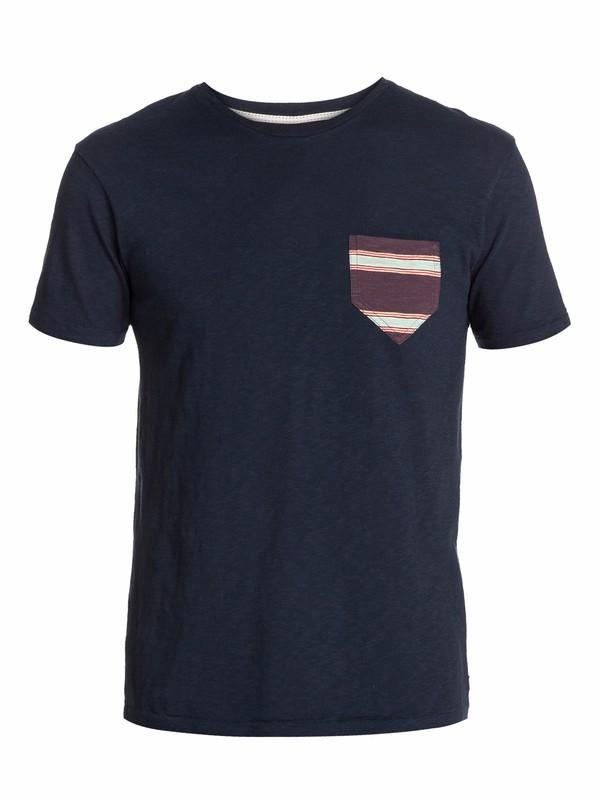 0 Contrast Pocket Slim Fit T-Shirt Blue EQYKT03003 Quiksilver