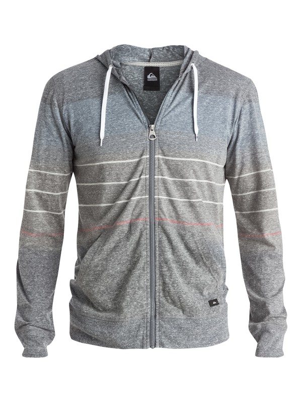 0 Lake Wind Stripe - Sweat à capuche zippé  EQYKT03295 Quiksilver