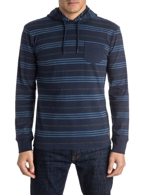 0 Snit Stripes Hooded Long Sleeve Tee  EQYKT03408 Quiksilver