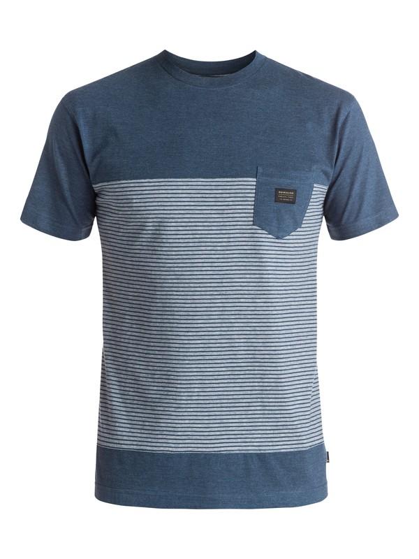 0 Full Tide - Tee-Shirt à poche Bleu EQYKT03413 Quiksilver