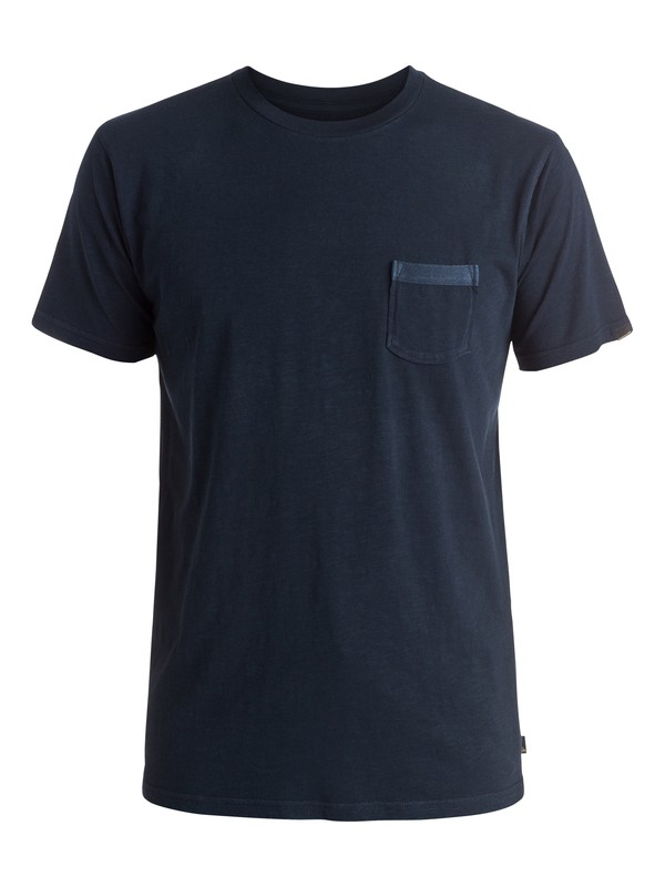 0 Slubstitution - Tee-Shirt à poche Bleu EQYKT03414 Quiksilver