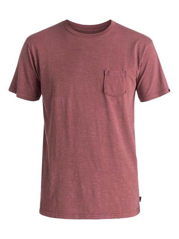 0 Slubstitution - Tee-Shirt à poche Rouge EQYKT03414 Quiksilver