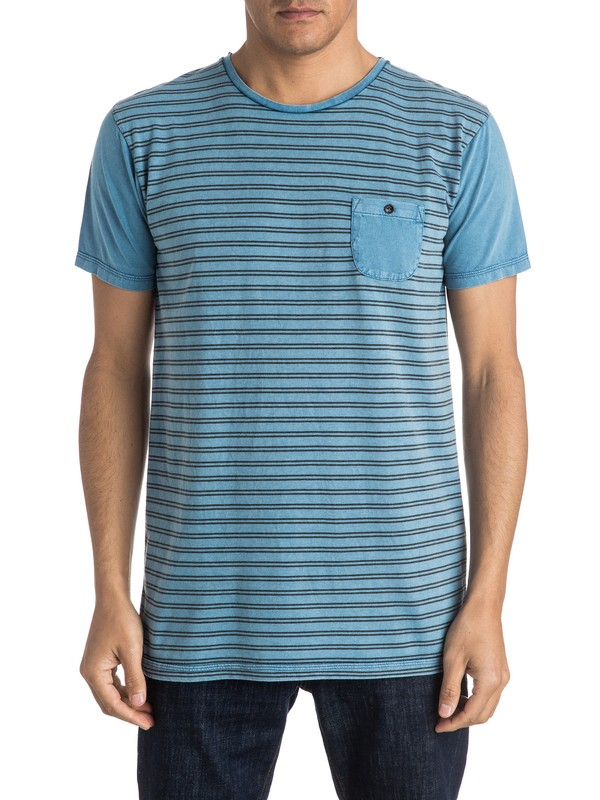 0 Acid Striped Pocket Tee  EQYKT03425 Quiksilver