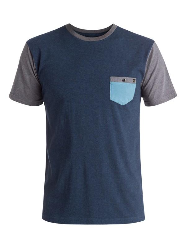 0 Baysic - Tee-Shirt à poche Bleu EQYKT03428 Quiksilver