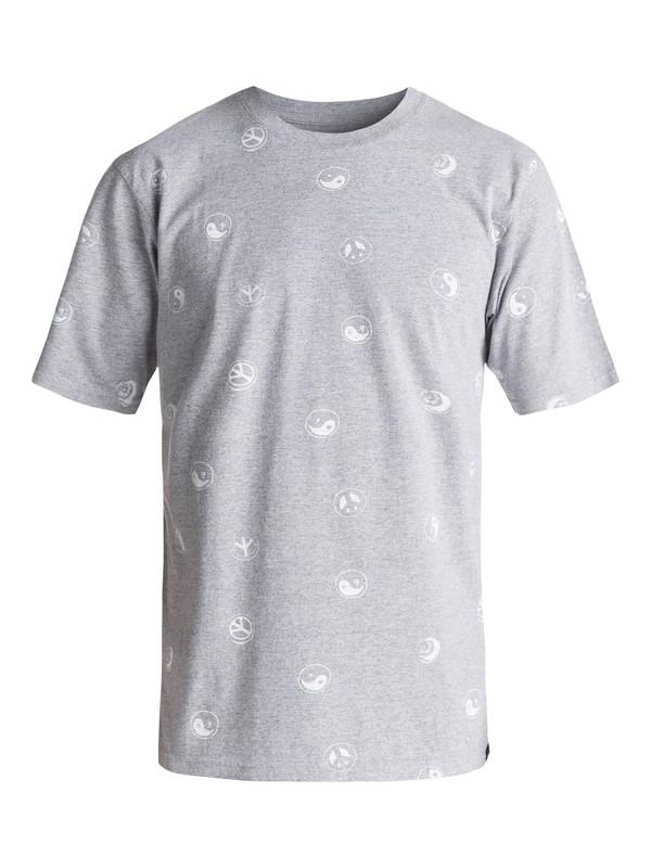 0 Eye Ching - Tee-Shirt Gris EQYKT03524 Quiksilver