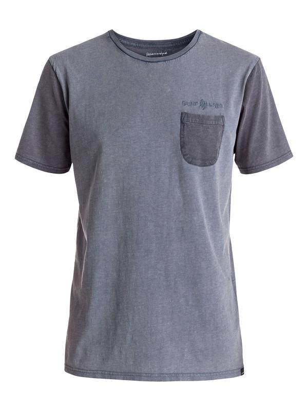 0 Scribble - Tee-Shirt à poche Bleu EQYKT03530 Quiksilver