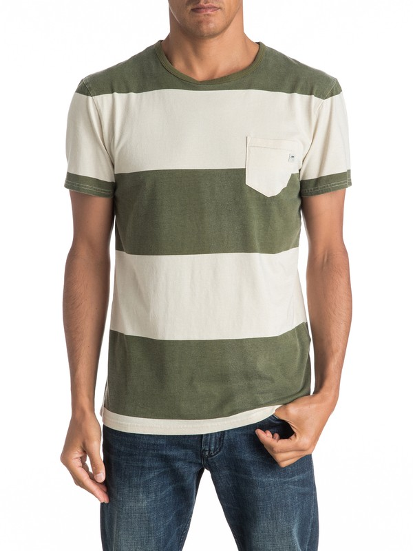 0 Maxed Out Hero - Pocket T-Shirt Green EQYKT03537 Quiksilver