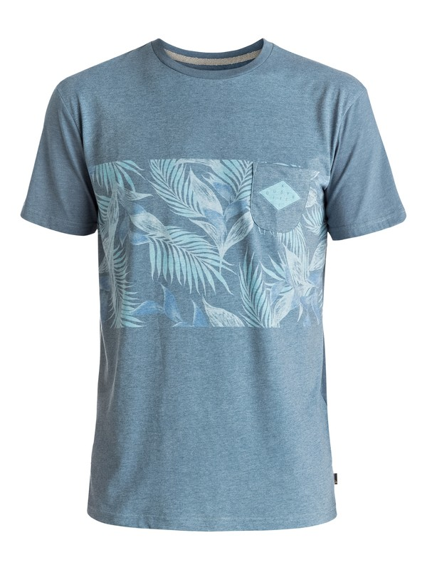 0 Faded Time - Tee-Shirt à poche Bleu EQYKT03545 Quiksilver