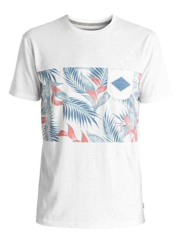0 Faded Time - Tee-Shirt à poche Blanc EQYKT03545 Quiksilver