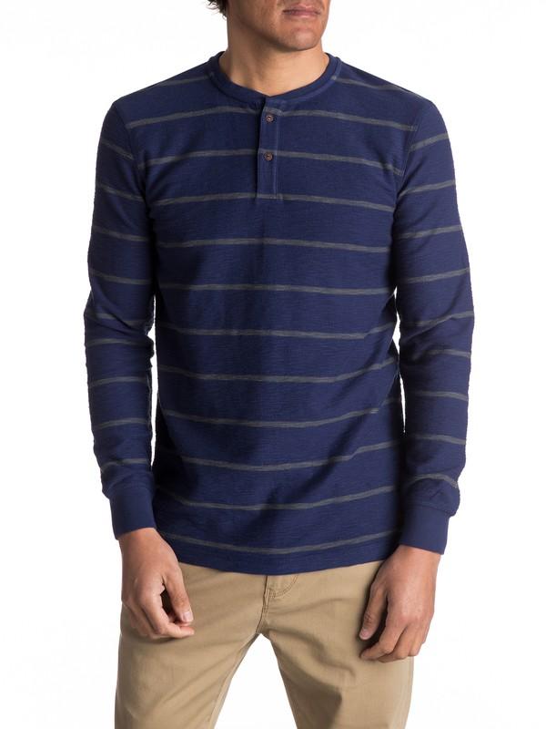 0 Y'Ami - T-shirt à col boutonné et manches longues Bleu EQYKT03606 Quiksilver
