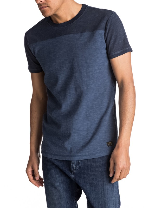 0 Sim Bai - T Shirt Bleu EQYKT03608 Quiksilver