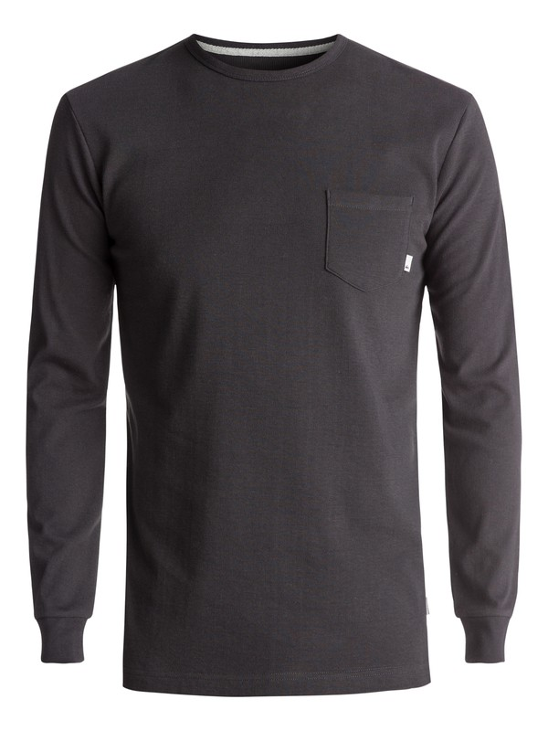 0 Snit Plain Long Sleeve Tee Black EQYKT03631 Quiksilver