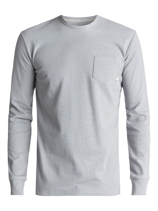 0 Snit Plain Long Sleeve Tee Grey EQYKT03631 Quiksilver