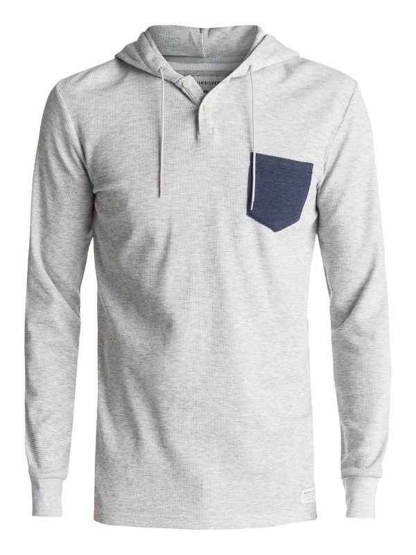 0 Murky Sky Long Sleeve Hooded Tee Grey EQYKT03633 Quiksilver