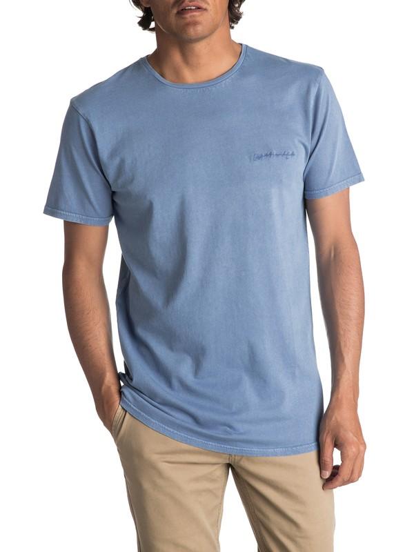 0 Men's Acid Sun Tee Blue EQYKT03645 Quiksilver