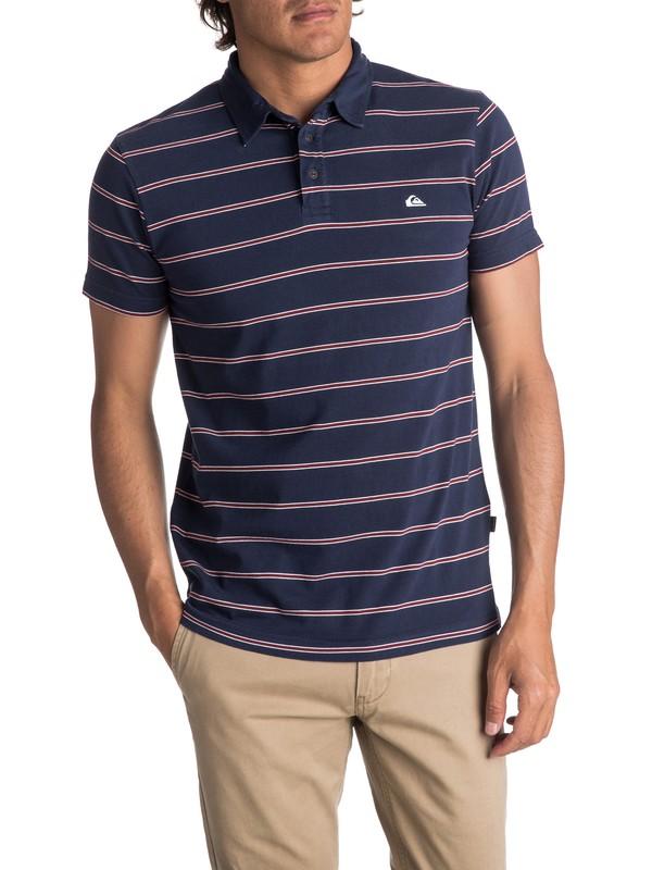 0 Men's Watton Polo Shirt Blue EQYKT03667 Quiksilver