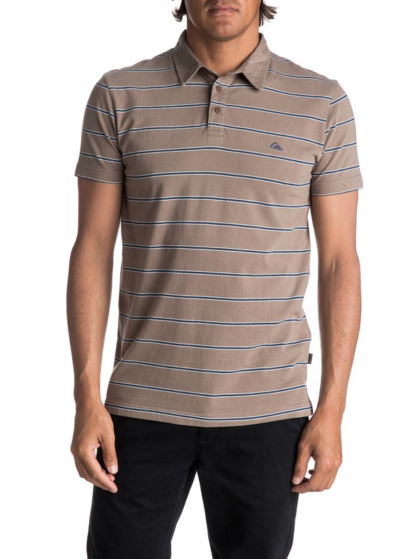 0 Men's Watton Polo Shirt Grey EQYKT03667 Quiksilver