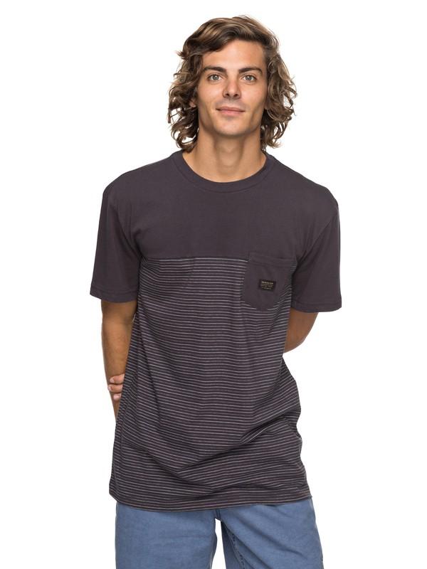 0 Full Tide - T Shirt col rond Noir EQYKT03677 Quiksilver