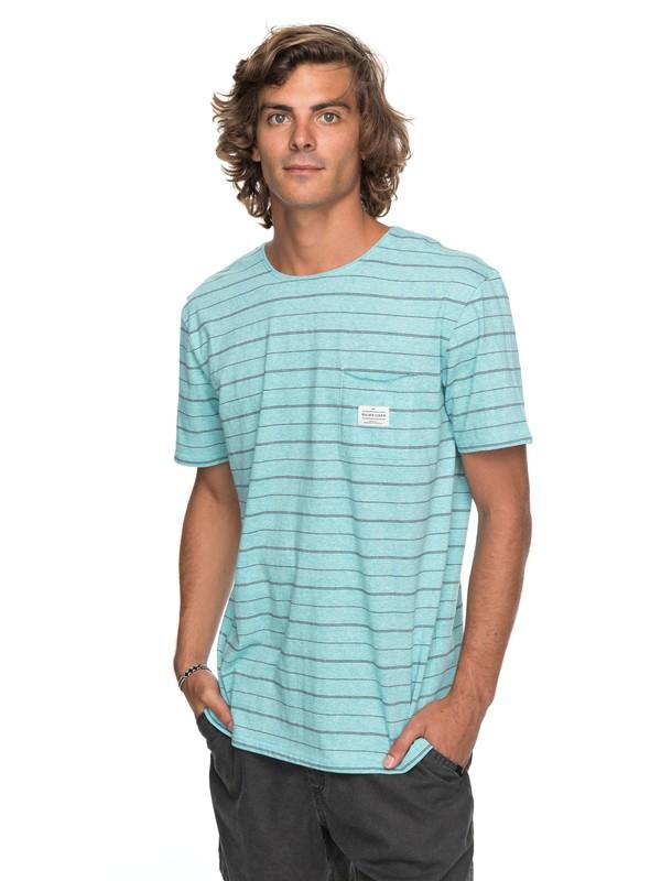 0 Zermet - T Shirt col rond Bleu EQYKT03680 Quiksilver