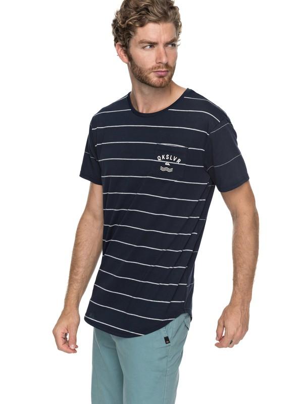 0 Caper Rocks - T-shirt col rond Bleu EQYKT03682 Quiksilver