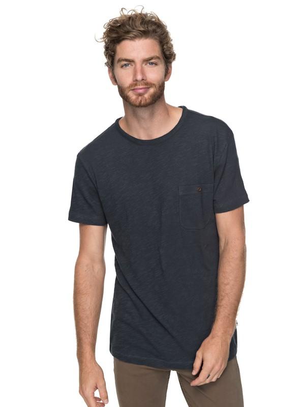 0 Low Tide - T shirt avec poche Bleu EQYKT03683 Quiksilver