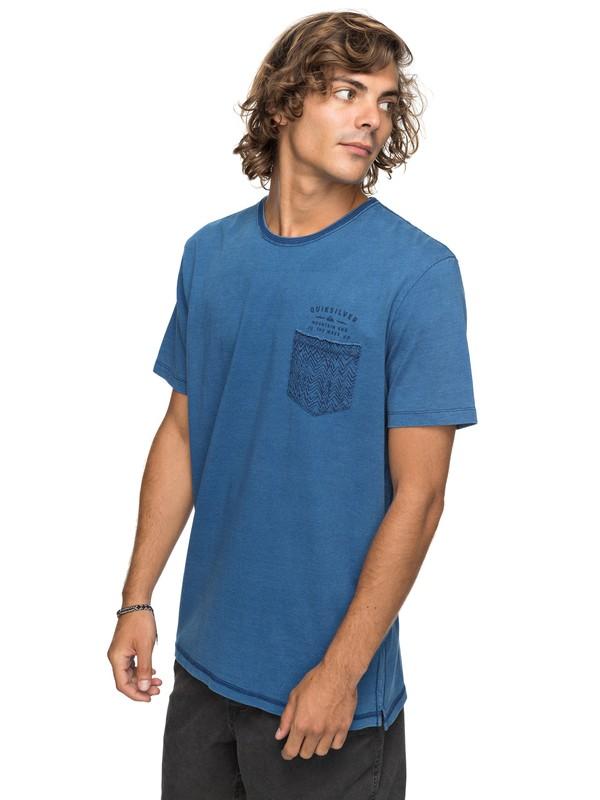 0 Bavericks - T shirt avec poche Bleu EQYKT03684 Quiksilver