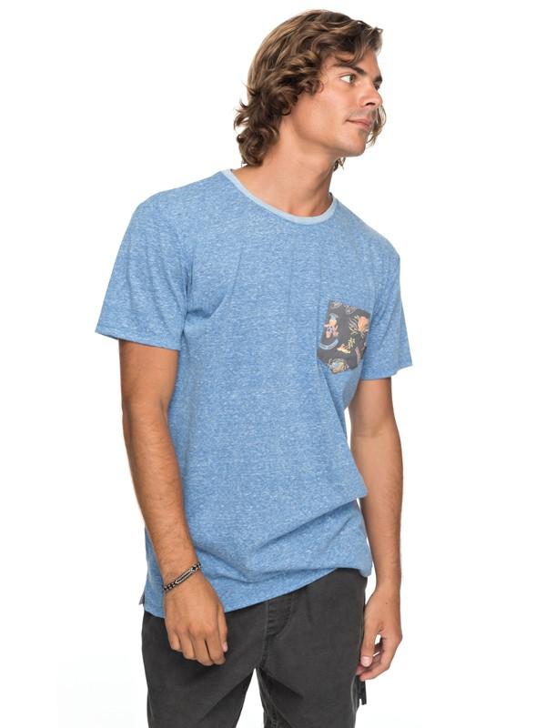 0 Broken Leash - T shirt avec poche Bleu EQYKT03686 Quiksilver